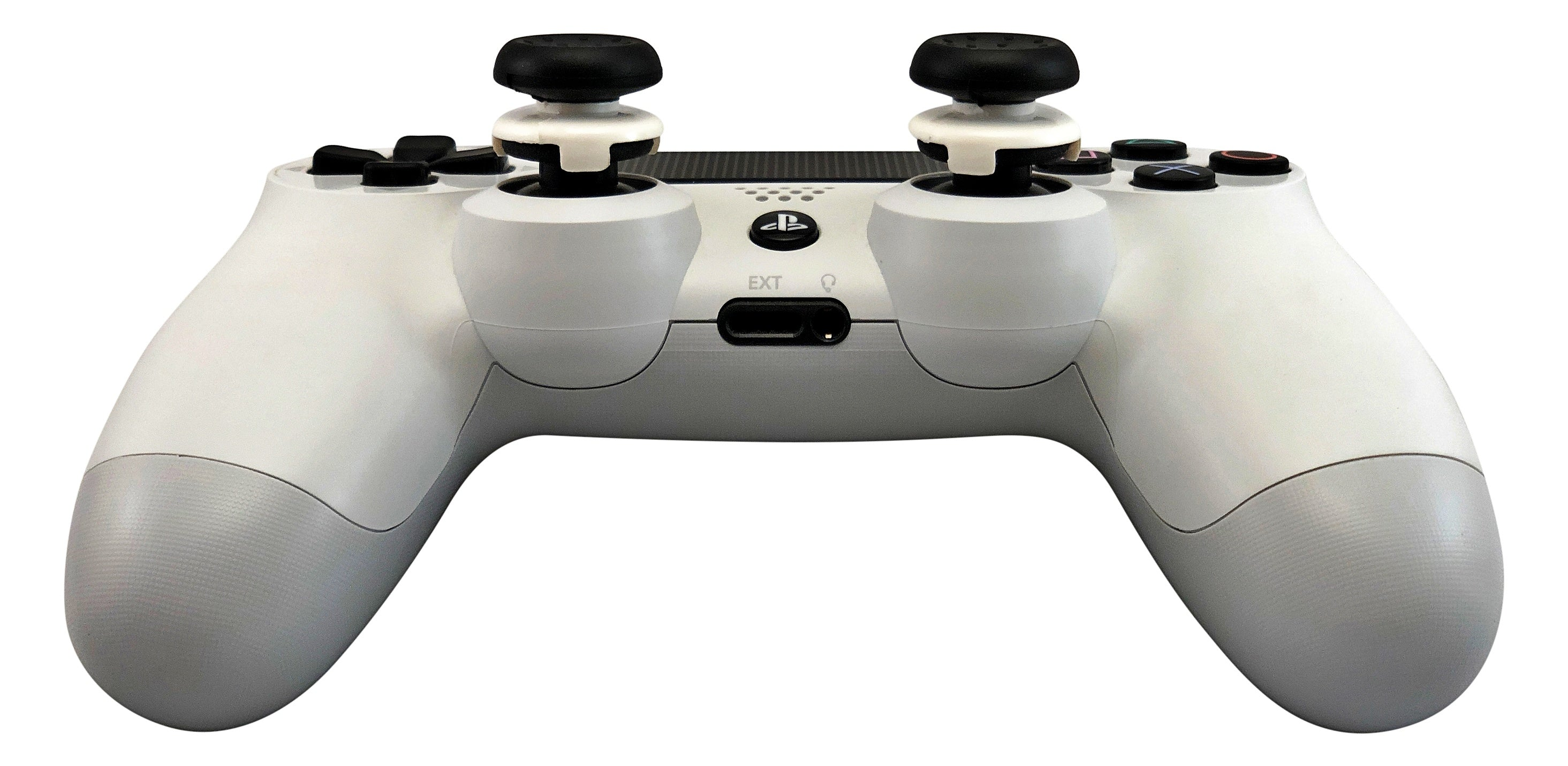 Weapons of Mass Destruction - PS4 Performance Triggers and Precision Thumbsticks - 2 Tall Stem Sticks - Black & White
