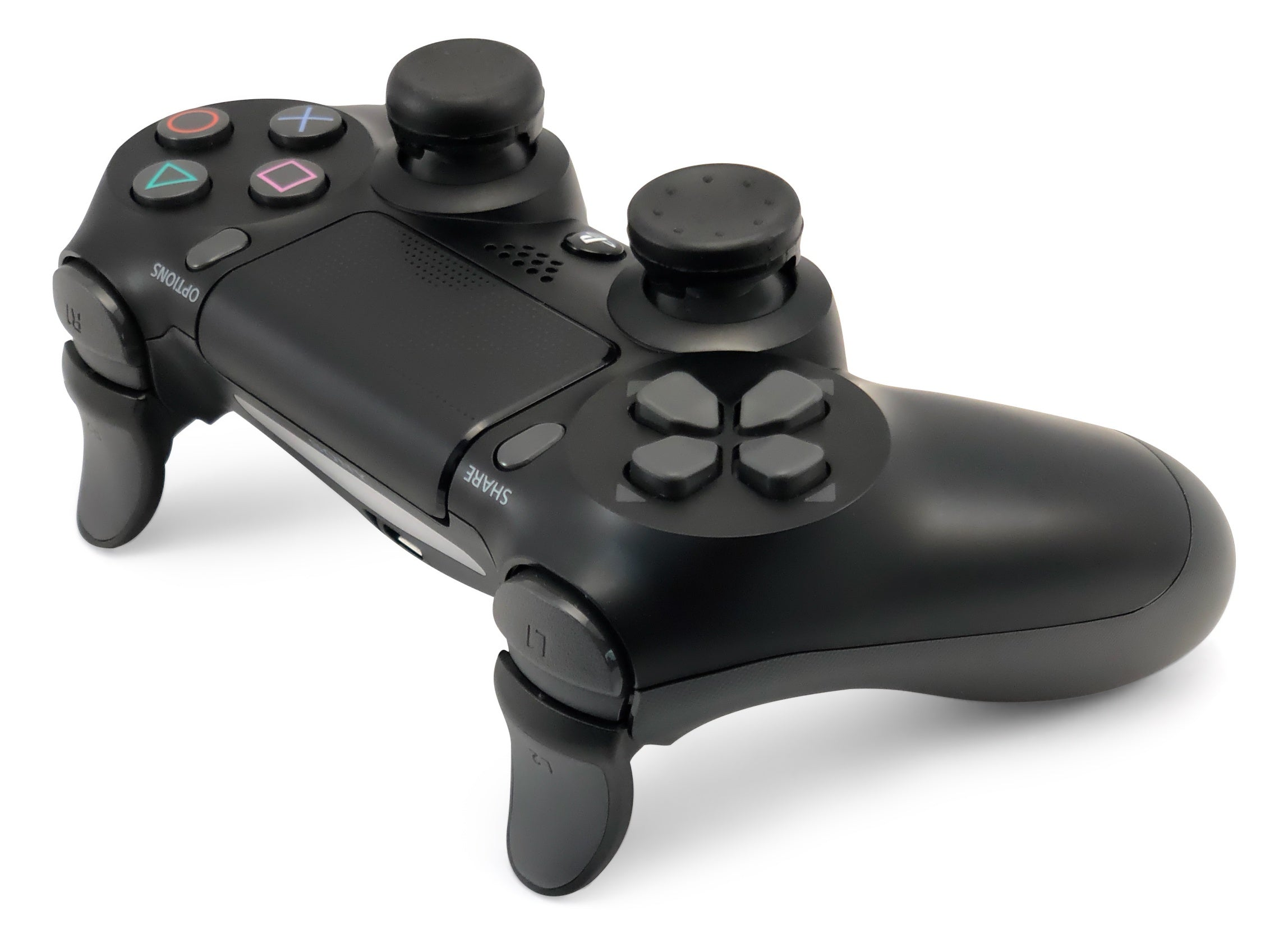 Weapons of Mass Destruction - PS4 Performance Triggers and Precision Thumbsticks - 1 Medium Stem & 1 Short Stem Stick - Black