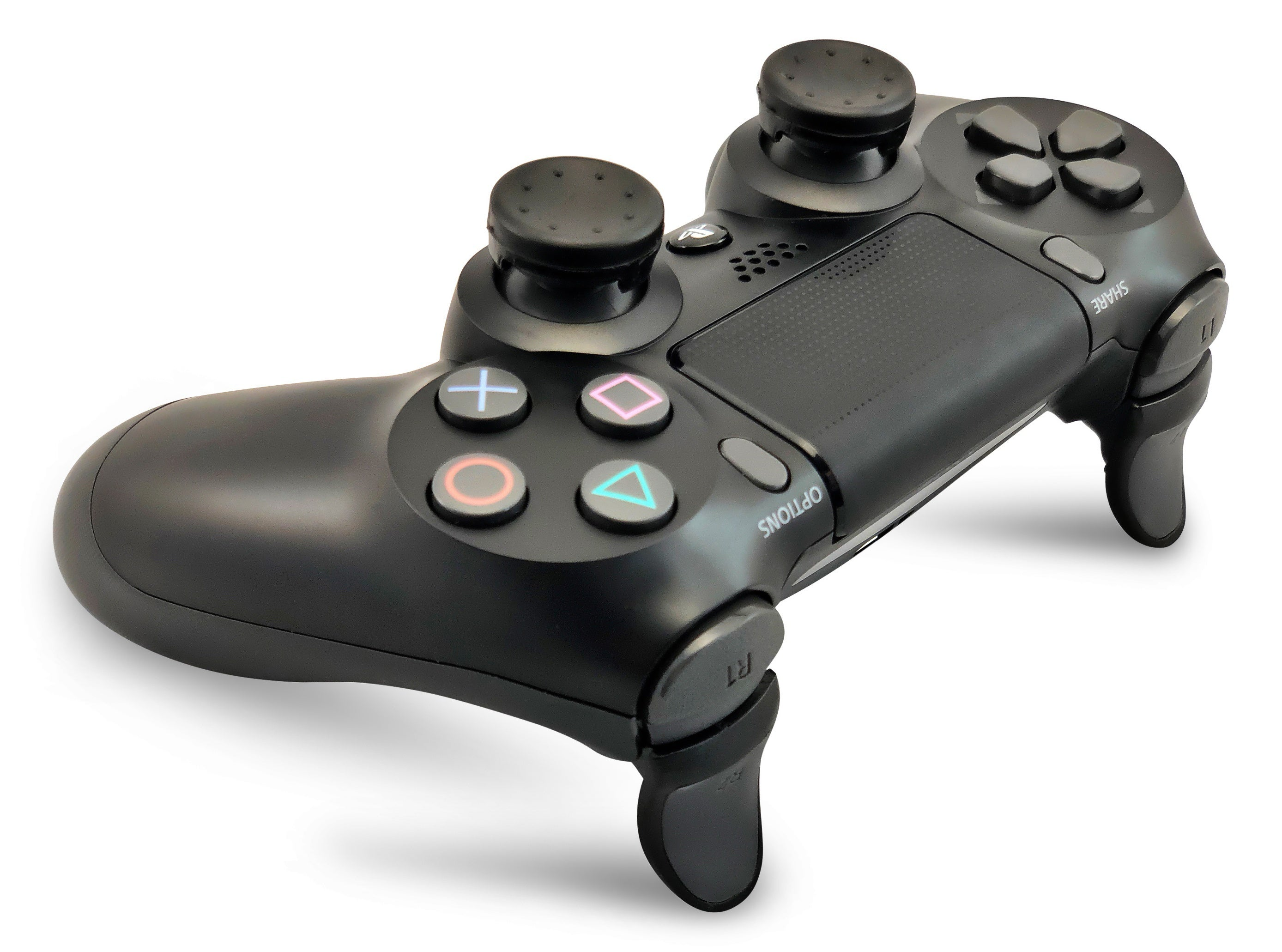 Weapons of Mass Destruction - PS4 Performance Triggers and Precision Thumbsticks - 2 Short Stem Sticks - Black