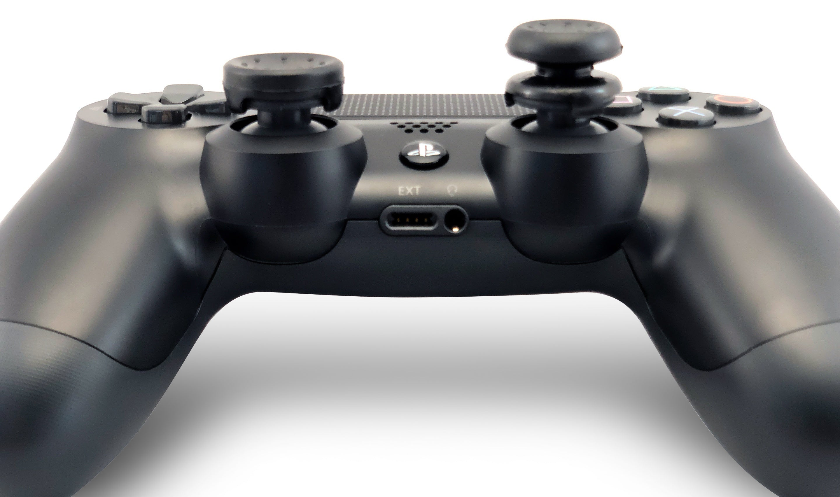 Weapons of Mass Destruction - PS4 Performance Triggers and Precision Thumbsticks - 1 Tall Stem & 1 Short Stem Stick - Black