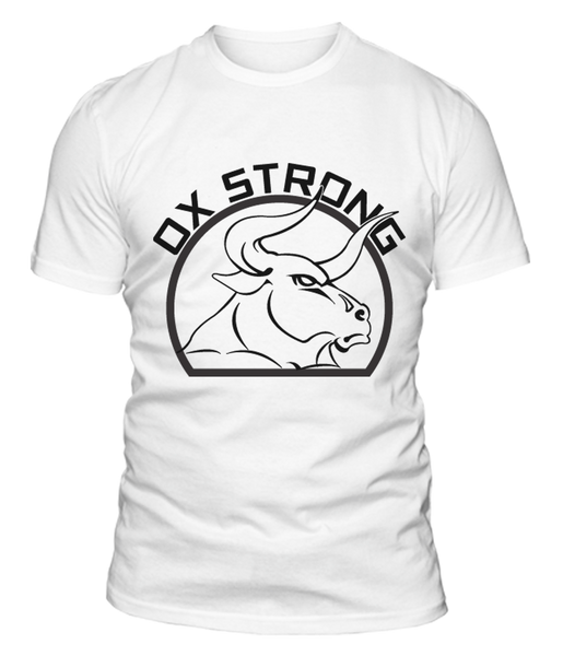 Ox Strong Fitness T-Shirt - White