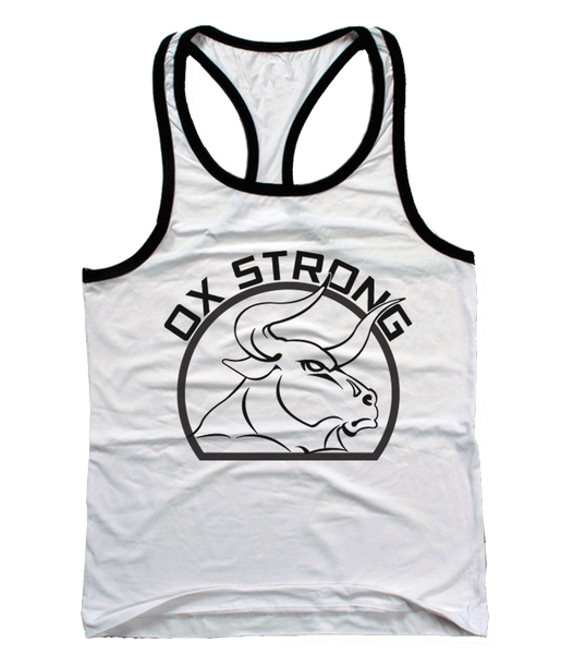 Ox Strong T-Back Tank Top - White