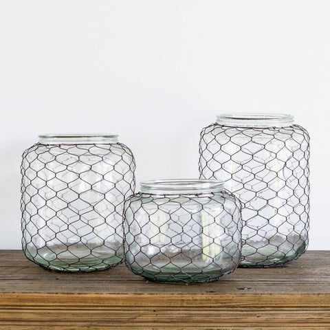 WIRE GLASS JAR