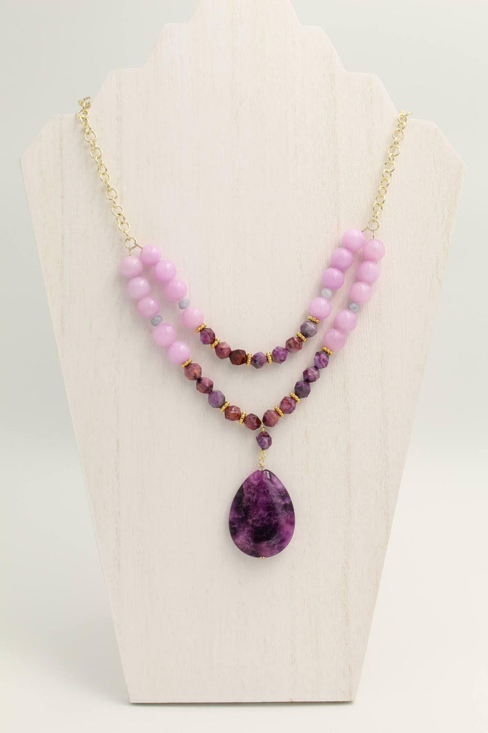 Purple Spark Necklace