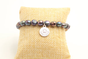 "Mabley Collection-""Genuine Cultured Freshwater Pearl Bracelet (Charcoal)"""