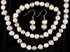 Genuine Freshwater Pearl Necklace Set (Multi)