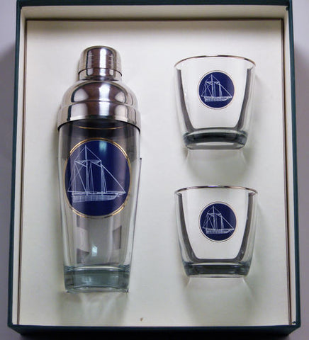 Americas Cup Cocktail Shaker Set - UR Gifts 4 All Seasons