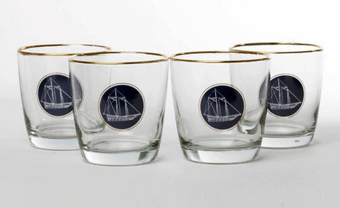 Americas Cup Old Fashioned glass set - UR Gifts 4 All Seasons