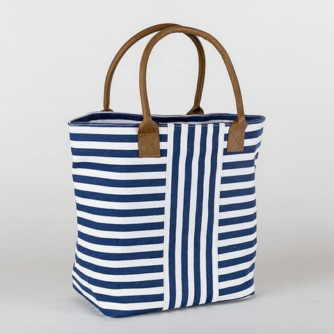 Cabana Totes - Navy Narrow Stripes