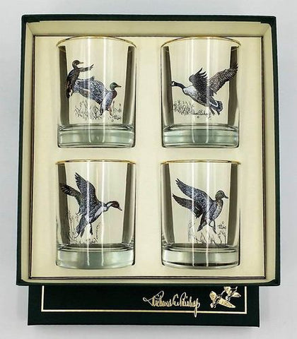 Waterfowl Double Old Fashioned glass set