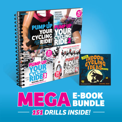 Pump Up Your Ride Mega Bundle Featuring 151 Indoor Cycling Drills
