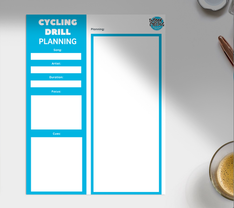 FREE Indoor Cycling Drill Planning eTemplate