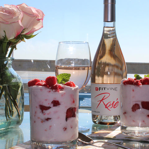 Vegan Raspberry Rose Parfait