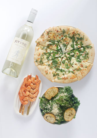 FitVine Pinot Grigio and White Pizza