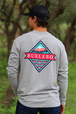 Signature Logo - Gray - LS Pocket - BURLEBO