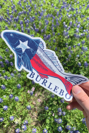 Lone Star Red Bumper Sticker