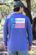 Hunt Texas Deer - LS Pocket (Heather Navy)