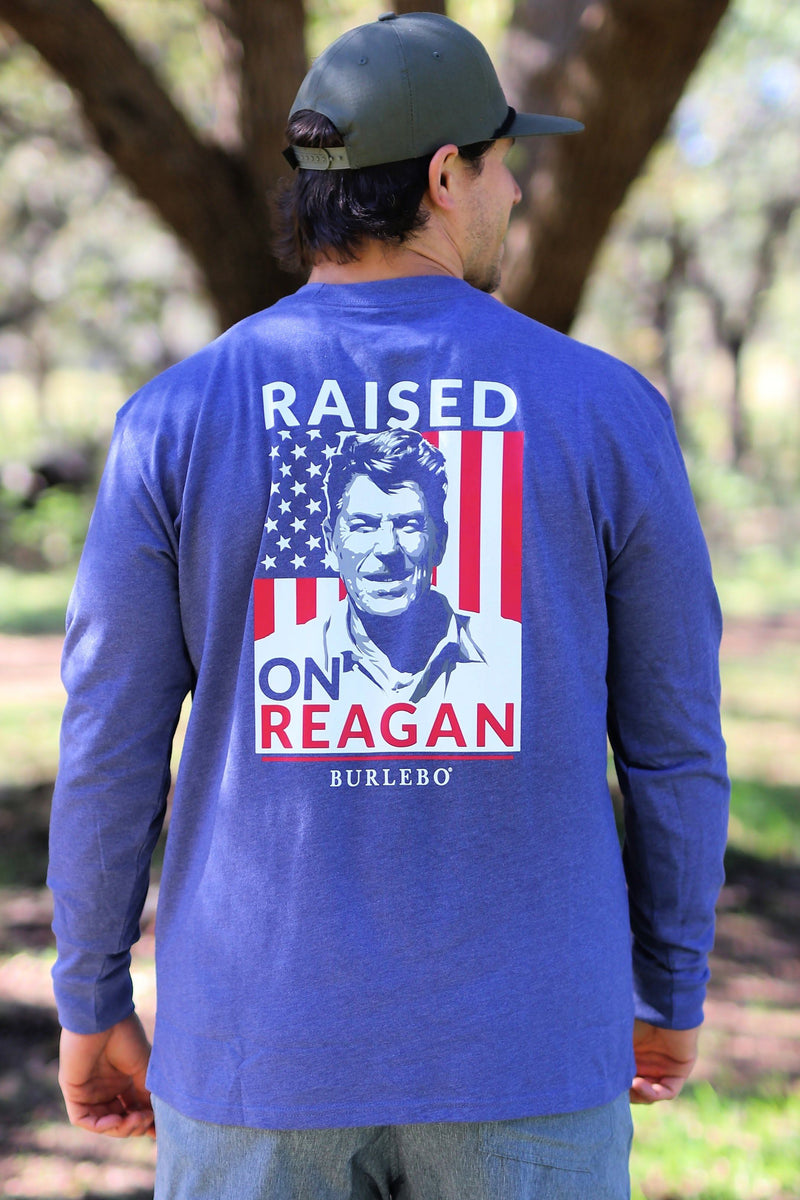 Raised On Reagan - Heather Navy LS