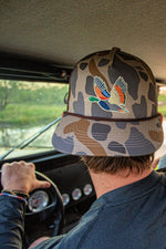 Retro Camo Duck Cap