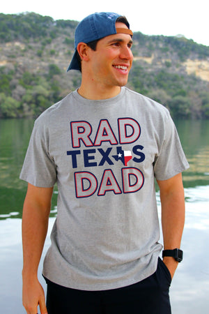 Rad Texas Dad - Light Gray - BURLEBO