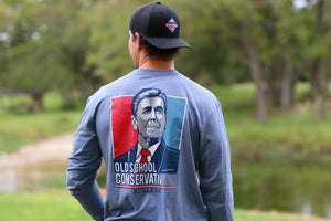 Old School Conservative - Blue Jean - LS Pocket - BURLEBO
