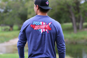 One Nation - Navy - LS Pocket - BURLEBO