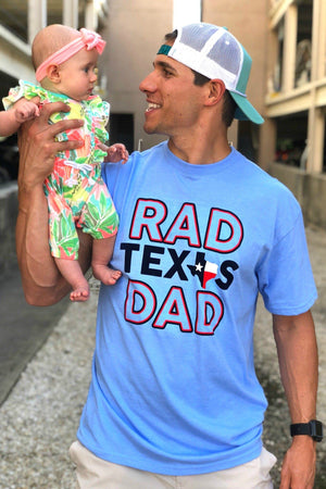 Rad Texas Dad - Light Blue - BURLEBO