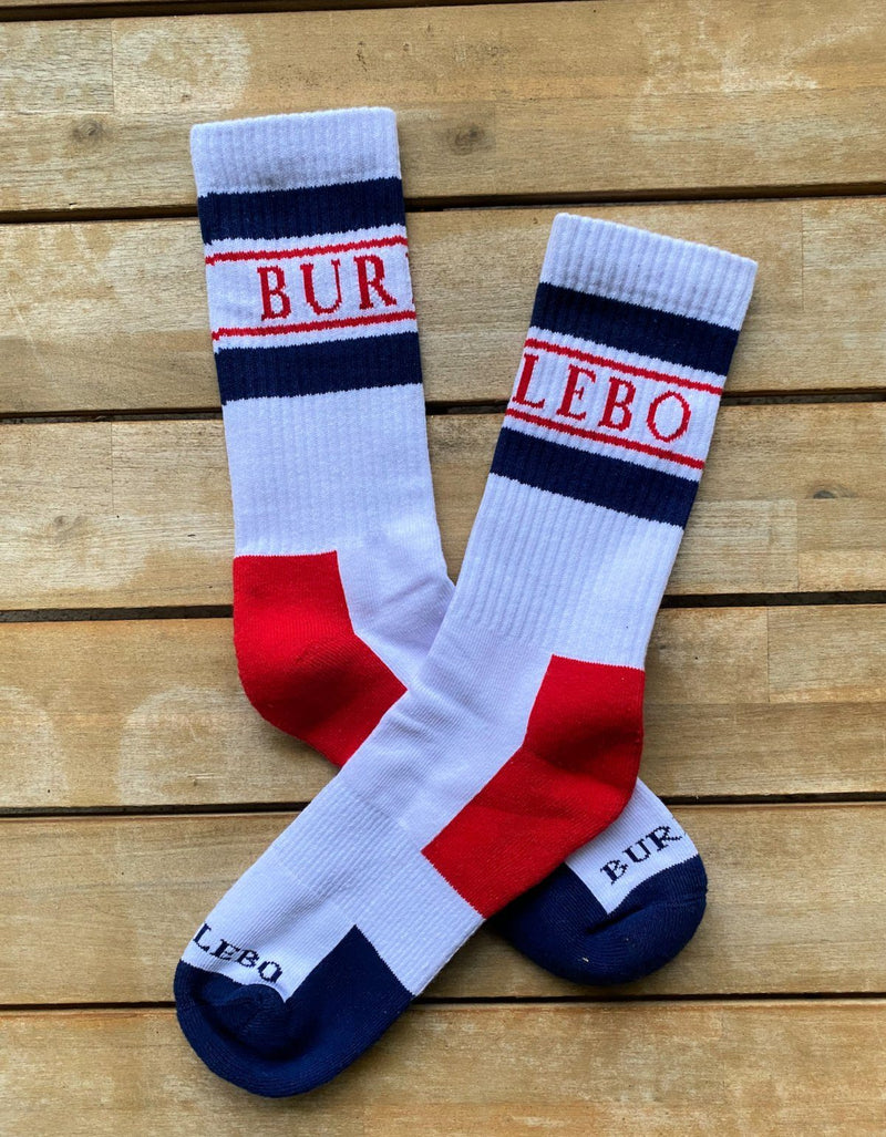BURLEBO Retro Logo Socks