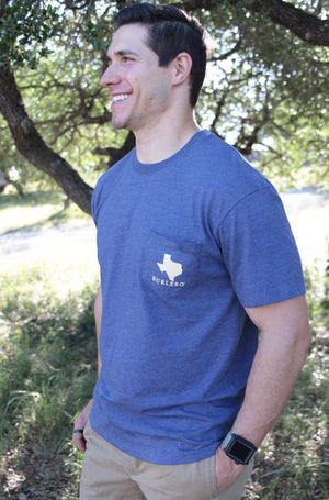 Texas Forever - Heather Navy - SS Pocket - BURLEBO