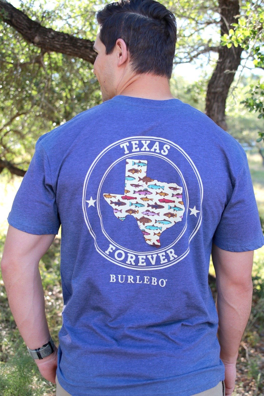Texas Forever - Heather Navy - SS Pocket
