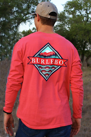Signature Logo - Watermelon - LS Pocket - BURLEBO