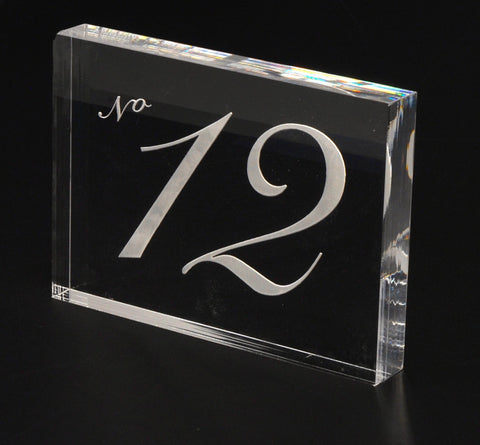 Set of 10 Engraved Acrylic Table Numbers: Parisian Style