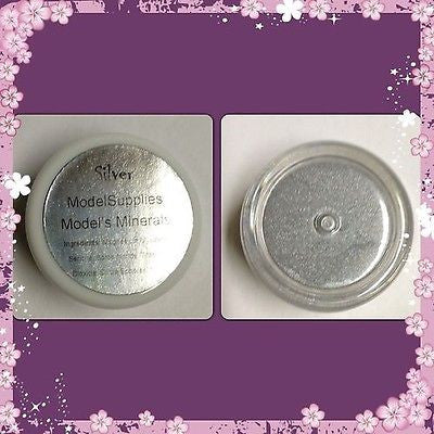 Modelsupplies Model's Minerals Silver Mineral Eye Shadow Makeup NIP - ModelSupplies
