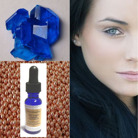 100% GHK copper peptide solution (GHK-cu) Copper Tripeptides - DIY ingredient Serum Booster - ModelSupplies