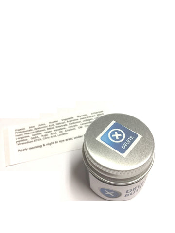 Delete Button Eye Gel Jar DMAE Haloxyl Caffeine Eyeseryl Puffy Dark Circles .5 oz - ModelSupplies