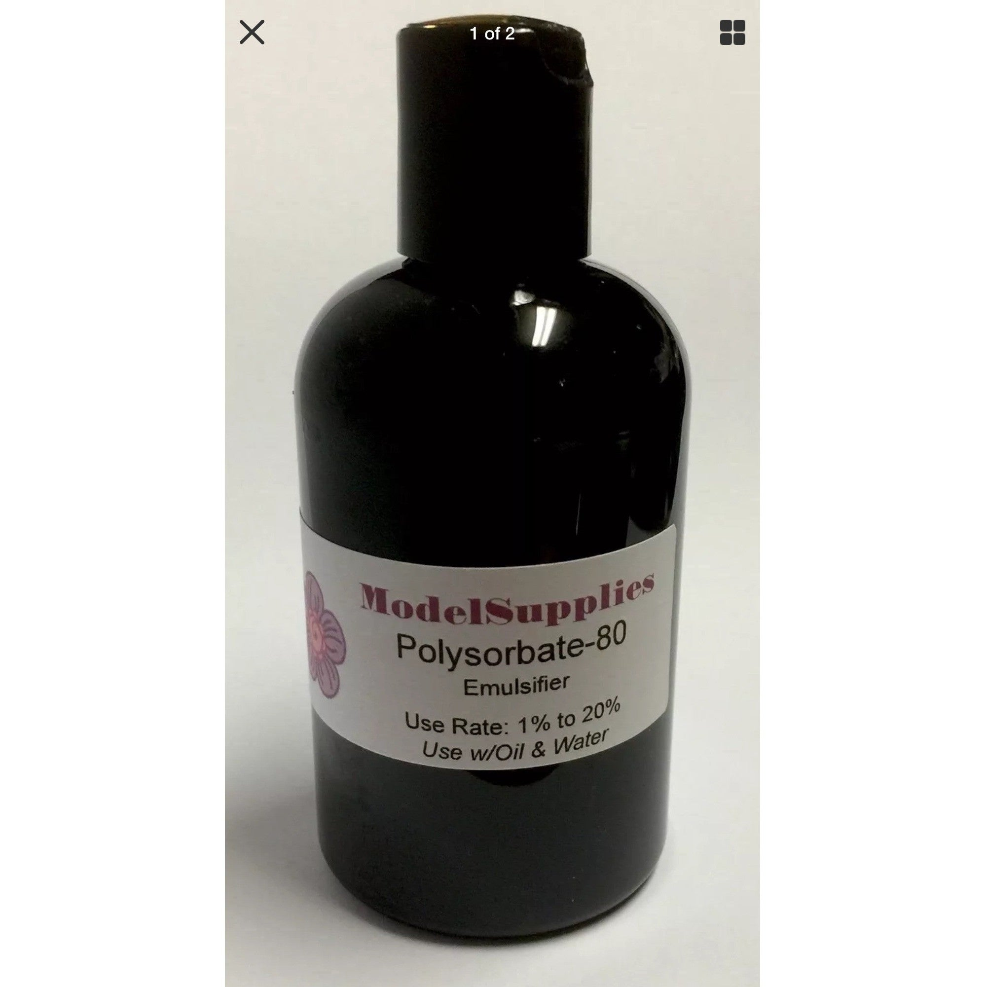 4oz Polysorbate 80 Emulsifier -  Mix Water & Oil Create Emulsions Creams Lotions - ModelSupplies