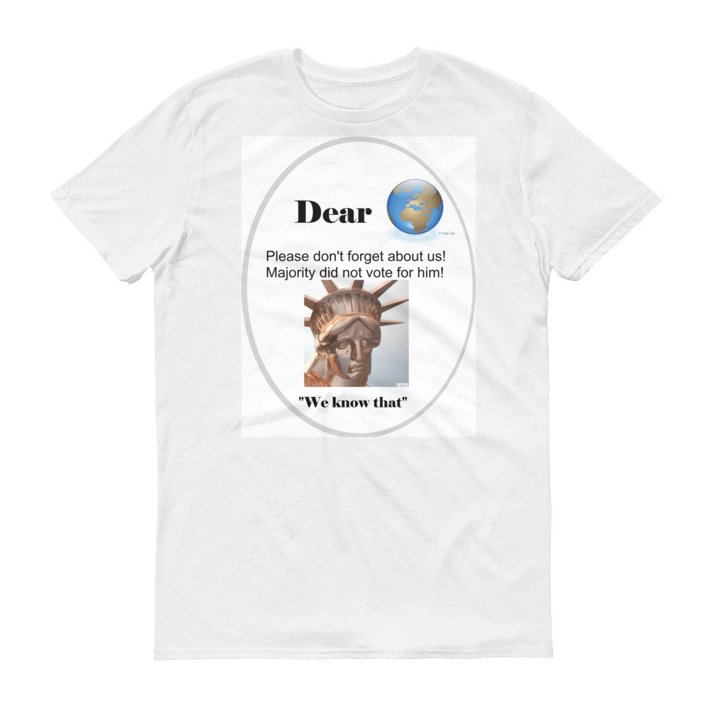 Short sleeve Libertee Dear World t-shirt
