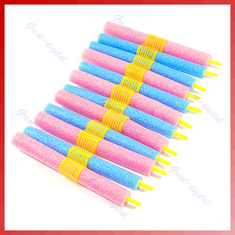 12pcs/set Soft Foam Anion Bendy Hair Rollers Curlers Cling Magic leverag - ModelSupplies