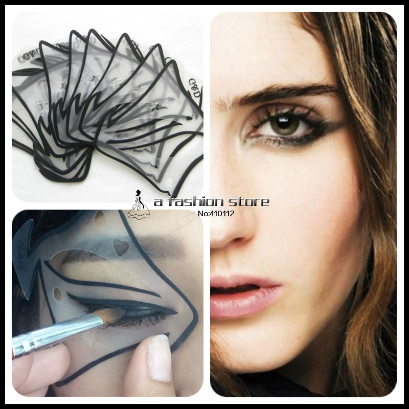 Style In Set Quick Makeup Cat Eyeliner Smokey Eyeshadow Drawing - Eyeshadow template