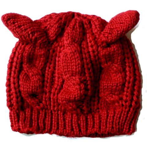 2016 Fashion Lady Girls Winter wool makes hotspot Cat Ear Hat Beanie  Free shipping ModelSupplies - ModelSupplies