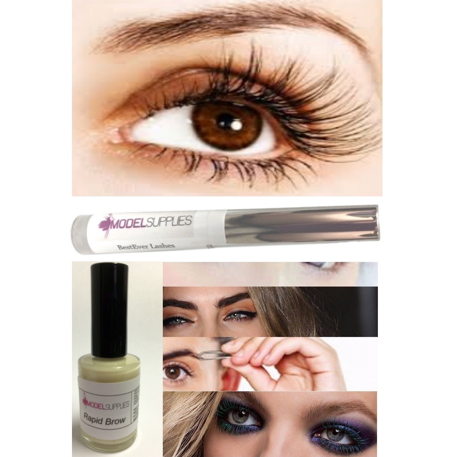 2pc LOT Rapid Brow & BestEver Lashes Shaping Hair Growth Grow Eyebrows Lash Fast