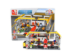 Building Blocks -599 Piece Hangar and Aircraft