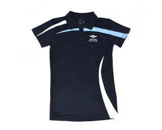 Womens Polo Navy white Sky