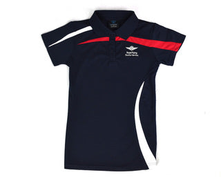 Womens Polo Navy-White-red