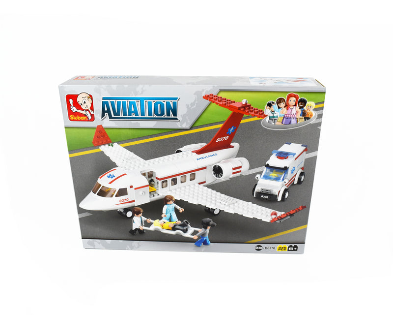 Building Blocks - 335 piece Aircraft and Ambulance