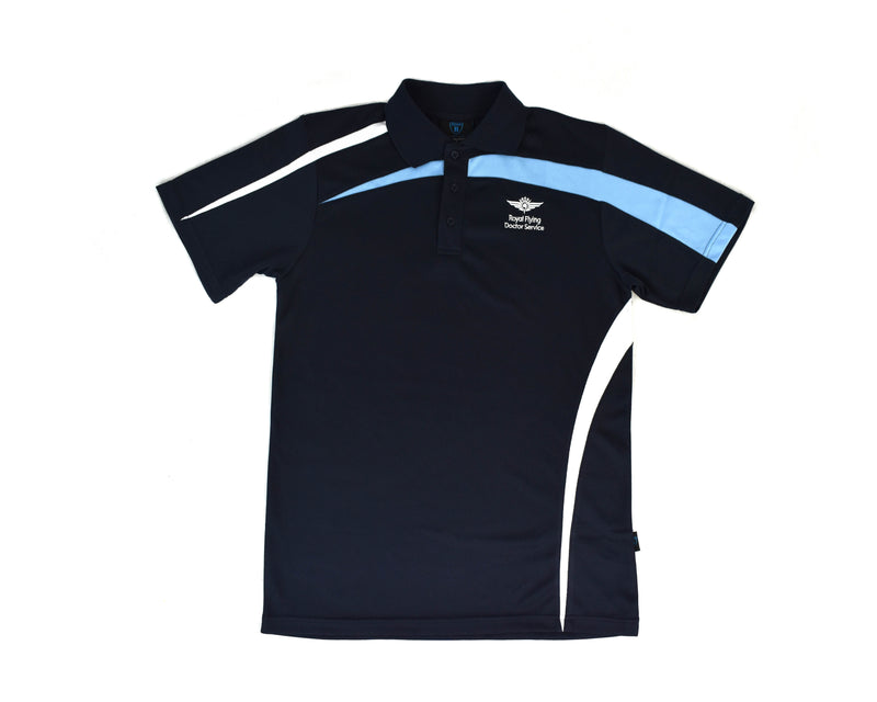 Mens Polo Navy-white-sky