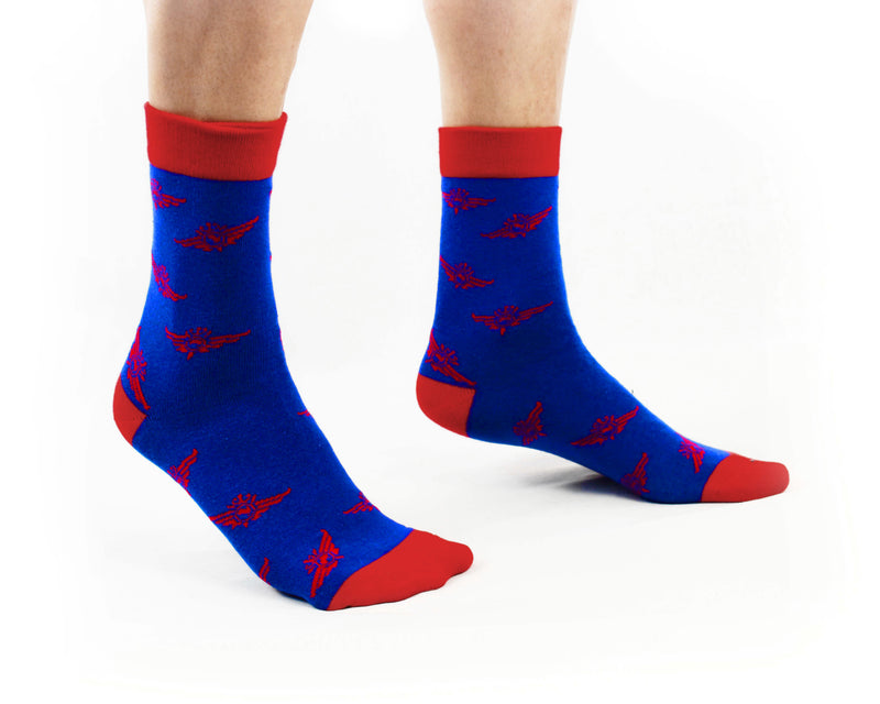 Socks - RFDS Logo Design - Navy & Red