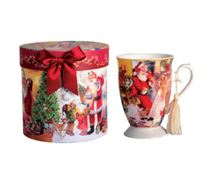 Mug - Footed - Christmas Santa - With Gift Box