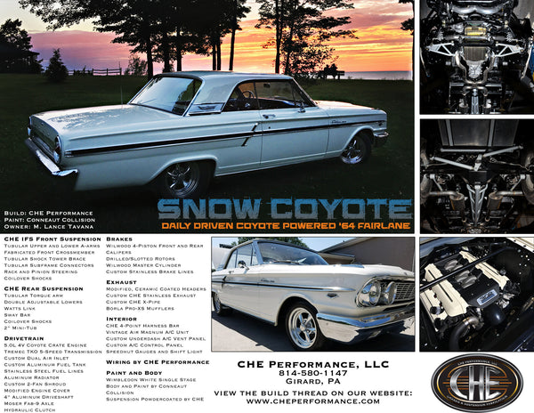 CHE 64 Fairlane Snow Coyote Build