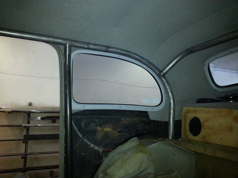 Rear tubes rolled to match window openings